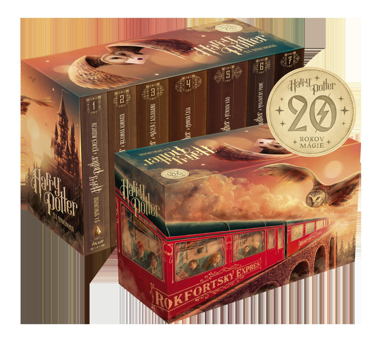 Harry Potter box 1 – 7, 20. výročie vydania